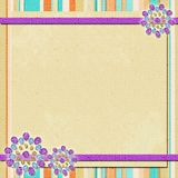 Background   in scrapbook style Stock Image