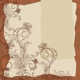 Background in scrapbooking stile  Royalty Free Stock Photography