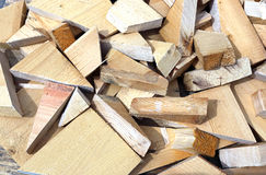 Background from scraps sawn wooden bars Stock Photography