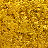 Background of the scratched golden metal surface Royalty Free Stock Photo