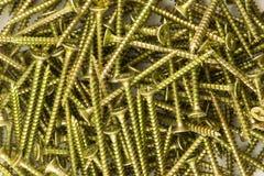 Background of screws yellow Stock Photos