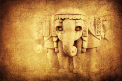Background with sculpture of an elephant Royalty Free Stock Images