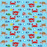 Background with sea animals. Royalty Free Stock Images