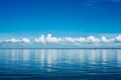 Background. Sea cloud and sky Stock Photo