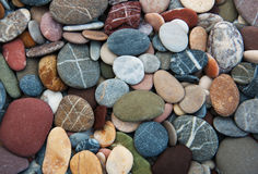 Background of sea pebbles Royalty Free Stock Photos
