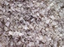 Background sea salt crystals closeup. Stock Photos
