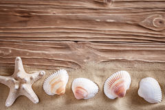 Background of sea sand. Summer rest. Royalty Free Stock Image