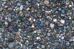 Background with sea stones. Background on which are depicted small smooth shiny wet stones stock images
