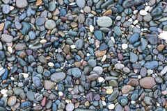 Background with sea stones. Background on which are depicted small smooth shiny wet stones royalty free stock images