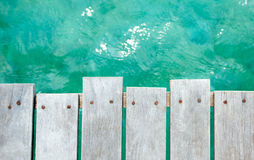 Background of sea and wharf Stock Images