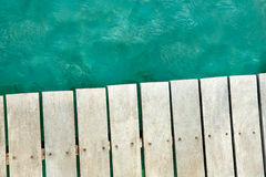 Background of sea and wharf Royalty Free Stock Photo
