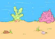 Background seabed cartoon Stock Images