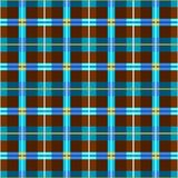 Background seamless, brown and blue-green rectangles, vector. Vector geometric background with brown and blue rectangles, yellow squares, and thin strips. For Stock Photos