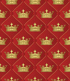 Background. Seamless background with crowns - vector illustration Royalty Free Stock Images