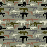 Background seamless depicting weapons Royalty Free Stock Photos