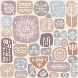 Background seamless ethnic pattern Royalty Free Stock Image