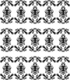 Background with seamless floral pattern Royalty Free Stock Images