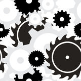 Background seamless - Gears Stock Image