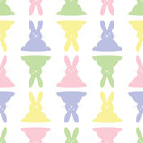 Background seamless illustration - Easter bunnies Royalty Free Stock Photos