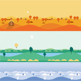 Background seamless landscapes autumn, summer Royalty Free Stock Photo