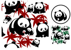 Background_seamless_Pandas. This image is a vector illustration and can be scaled to any size without loss of resolution. This image will download as a .eps file Royalty Free Stock Image