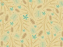 Background with seamless pattern Stock Photo