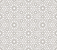 Background with seamless pattern in arabic style Royalty Free Stock Photos