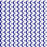 Background seamless pattern with blue star and crescent Vector. Star and moon.  Stock Photos
