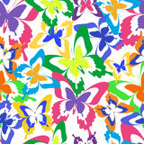 Background seamless pattern with colorful butterflies Stock Photography