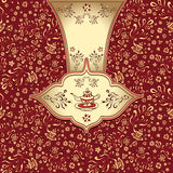 Background  with  seamless pattern in doodle style for Tea Stock Image