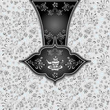 Background  with  seamless pattern in doodle style for Tea Royalty Free Stock Images