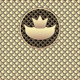 Background  with seamless pattern  fish scale gold. Background  with seamless pattern  fish scale crown gold for advertising  something Royalty Free Stock Photos