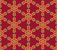 Background with seamless pattern in islamic or indian style vector illustration