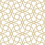 Background with seamless pattern in islamic style. Eastern geometric ornament. Arabic seamless pattern Royalty Free Stock Photo
