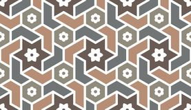 Background with seamless pattern in islamic style. Eastern geometric ornament. Arabic seamless pattern Stock Images