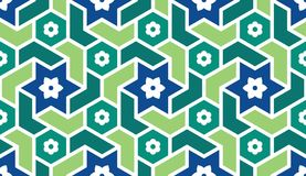 Background with seamless pattern in islamic style. Eastern geometric ornament. Arabic seamless pattern Stock Image