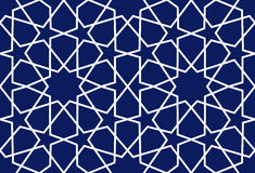 Background with seamless pattern islamic style vector Royalty Free Stock Image
