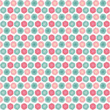 Background seamless pattern with many repeating stylized flowers Stock Images