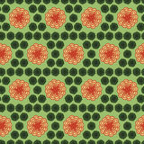 background seamless pattern with many repeating stylized flowers Stock Photo