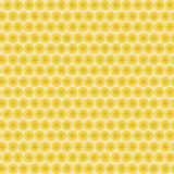 Background seamless pattern with many repeating stylized yellow flowers Stock Photo