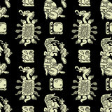 Background seamless pattern in Maya style Royalty Free Stock Images