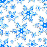 Background seamless pattern with stylized 3d snowflake Royalty Free Stock Photo