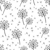Background seamless pattern with stylized dandelions Stock Photos