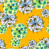 Background seamless pattern with umbrellas. watercolor Stock Photos