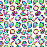 Background seamless placer precious stones on white Stock Photography