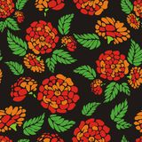 Background seamless with red flowers. Beautiful background pattern with a flower ornament Stock Illustration