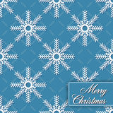 Background seamless from snowflakes for Merry Chri Royalty Free Stock Photos