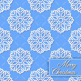 Background seamless from snowflakes for Merry Chri Stock Photos