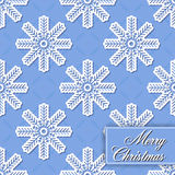 Background seamless from snowflakes for Merry Chri Royalty Free Stock Photo