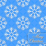 Background seamless from snowflakes for Merry Chri Royalty Free Stock Image
